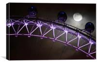 London Eye in Moonlight, Canvas Print