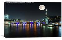 Night on the Thames , Canvas Print