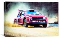 Metro 6R4 Powers Up Hill, Canvas Print
