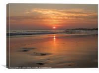 Praia da Rocha Sunset, Canvas Print