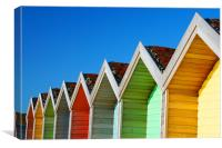 Beach Huts 2, Canvas Print