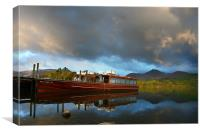 Keswick Launches, Canvas Print