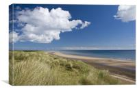 Druridge Bay, Canvas Print