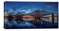 Forth Rail Bridge - NLCs, Canvas Print