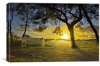 Lickey End Sunset, Canvas Print