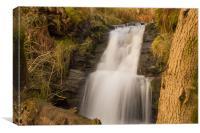 Crowden Clough Waterfall, Canvas Print