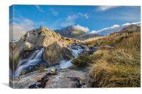 Tryfan in the clouds, Canvas Print