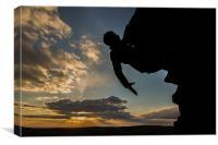 Sunset Rock Climber, Canvas Print