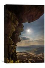 Whinstone Lee Tor, Canvas Print