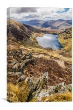 Ffynnon Llugwy Reservoir, Snowdonia, Canvas Print