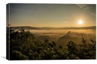 Sett Valley Sunrise, Canvas Print