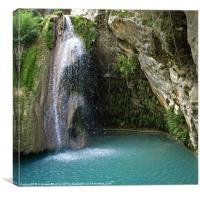 Turkish Waterfall, Canvas Print