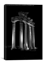 Temple bw (Side, Turkey), Canvas Print