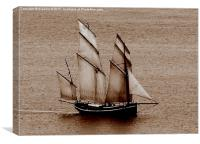 Cornwall Schooner, Canvas Print