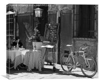 Italian menu, Canvas Print