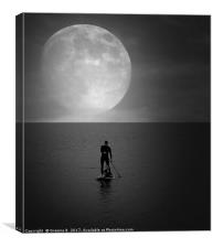 Under The Moon, Canvas Print