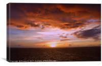 Sunset Brewing, Canvas Print