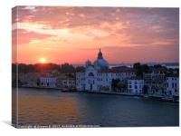 Sunrise in Venice, Canvas Print