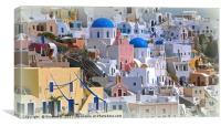 Santorini 1, Canvas Print