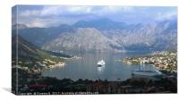 Cruise ships in Montenegro, Canvas Print