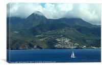 Sailing Near Martinique, Canvas Print