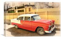 Red Chevrolet, Canvas Print