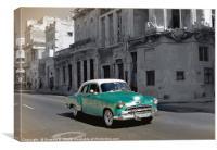 Classic Green Car, Canvas Print