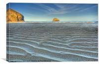 Trebarwith Strand Cornwall Summer Sunrise, Canvas Print