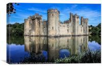 Bodiam Castle and moat, Canvas Print
