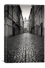Streets of Prague, Canvas Print