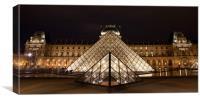 Louvre Museum Pyramid Paris, Canvas Print