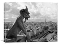 Paris - Notre Dame Gargoyle, Canvas Print