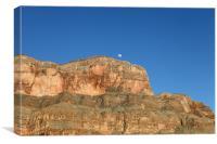 Grand Canyon Moon, Canvas Print