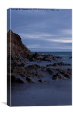 Inch Beach at Dusk with shades of Blue, Canvas Print