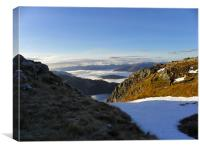 Vally From Ben Nevis, Canvas Print