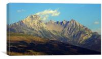 Alpine Mountain, Canvas Print