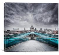 Millenium Bridge, London, Canvas Print