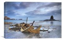 Shipwreck at Black Nab, UK, Canvas Print