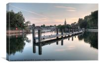 Evening over Marlow, Canvas Print