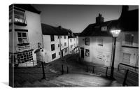 Whitby Steps at Night 2, Canvas Print