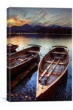Derwent Water Sunset, Canvas Print