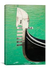 Venice Gondola Bow, Canvas Print