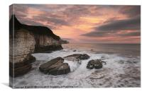 Thornwick Bay Sunrise 2, Canvas Print