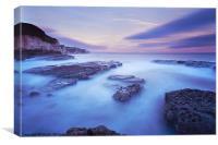 Thornwick Bay Sunset, Canvas Print