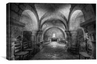 The Crypt at Lastingham Church, Canvas Print