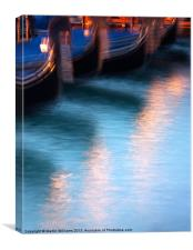 Venice Gondola Reflections, Canvas Print
