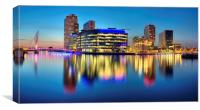 Salford Quays Media City, Canvas Print