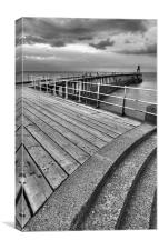 Whitby Pier, North Yorkshire, Canvas Print
