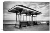 Whitby Shelter, North Yorkshire, Canvas Print