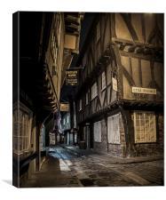 York Shambles, Yorkshire, Canvas Print